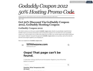 godaddycoupon2012.tumblr.com screenshot