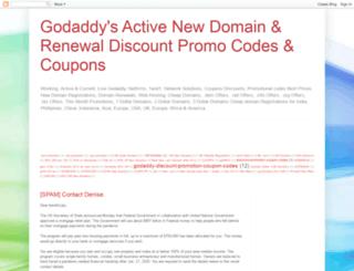 godaddydiscountpromotioncouponcode.blogspot.in screenshot