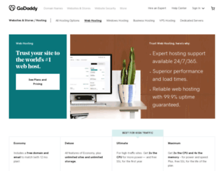 godaddyhosting.com screenshot