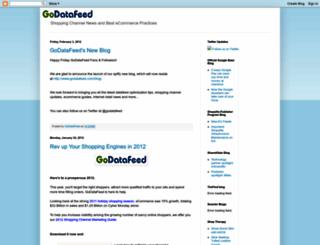 godatafeed.blogspot.com screenshot
