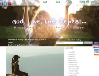 godloveliferepeat.com screenshot