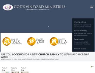 godsvineyardchurch.org screenshot