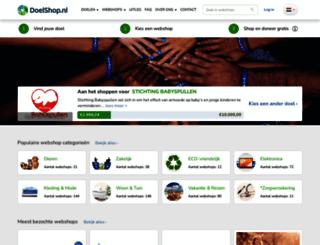 goededoelshop.nl screenshot