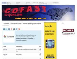gofastcoupons.com screenshot