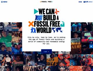 gofossilfree.org screenshot