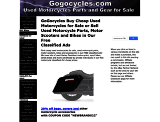gogocycles.com screenshot