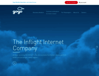 gogoinflight.com screenshot