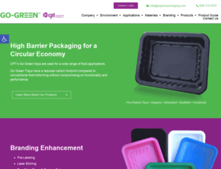 gogreenpackaging.com screenshot