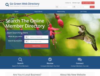 gogreenwebdirectory.com screenshot