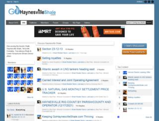 gohaynesvilleshale.com screenshot