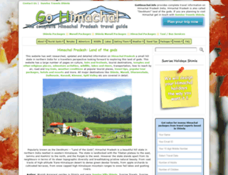 gohimachal.info screenshot