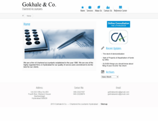 gokhaleandco.com screenshot