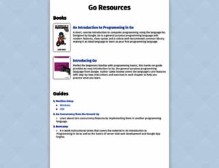 golang-book.com screenshot