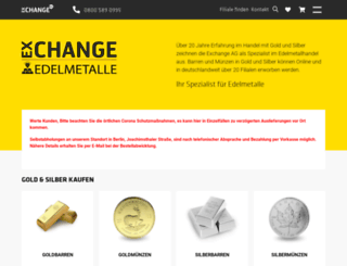 gold-exchange.de screenshot
