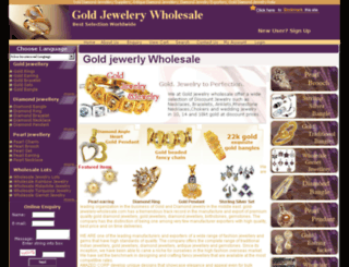 gold-jewelery-wholesale.com screenshot