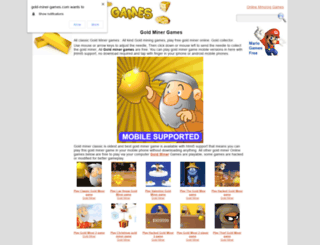 gold-miner-games.com screenshot