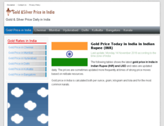 gold-silver-india.com screenshot