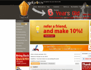 gold4rs.com screenshot
