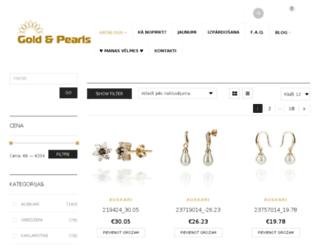goldandpearls.com screenshot