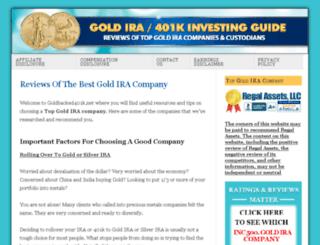 goldbacked401k.net screenshot