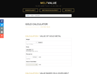goldcalculator.com screenshot