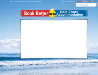 goldcoastaccommodation.bookbetter.com.au screenshot