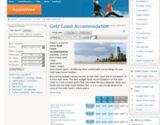 goldcoastaccommodation.tv screenshot