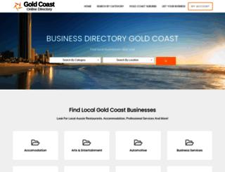 goldcoastonlinedirectory.com.au screenshot