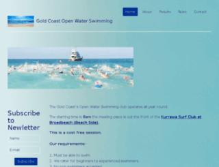 goldcoastopenwaterswimming.com.au screenshot