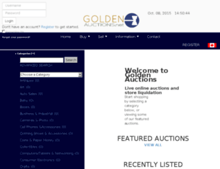 goldenauctions.net screenshot