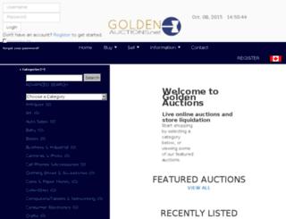 goldenauctions.net screenshot