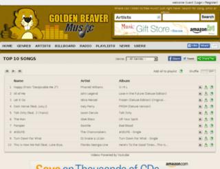 goldenbeavermusic.com screenshot