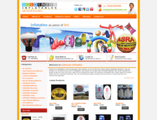 goldeneyeinflatables.com screenshot