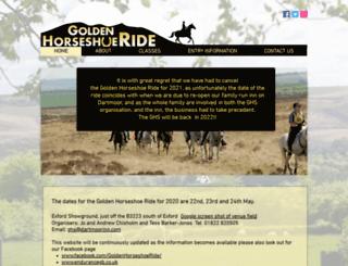 goldenhorseshoe-ride.co.uk screenshot