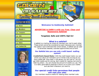 goldenopsafelist.com screenshot
