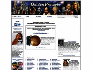 goldenproverbs.com screenshot