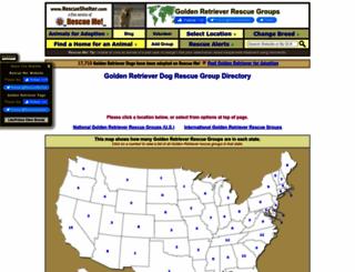 goldenretriever.rescueshelter.com screenshot