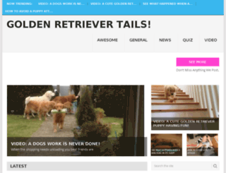 goldenretrievertails.com screenshot