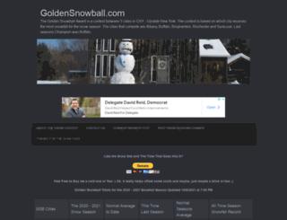 goldensnowball.com screenshot