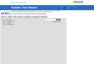 goldentree.ucr.edu screenshot