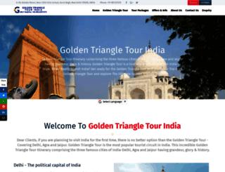 goldentriangletourindia.com screenshot