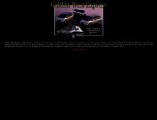 goldenwestexpress.com screenshot