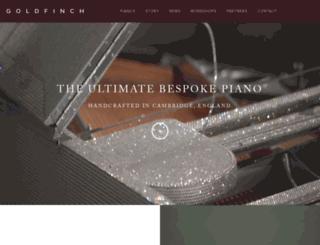 goldfinchpianos.com screenshot