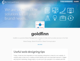 goldfinntech.tumblr.com screenshot