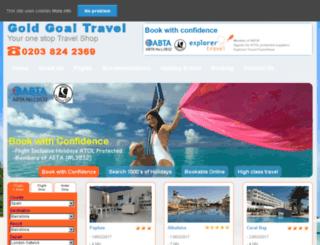 goldgoaltravel.com screenshot