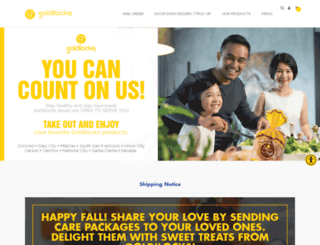 goldilocks-usa.com screenshot