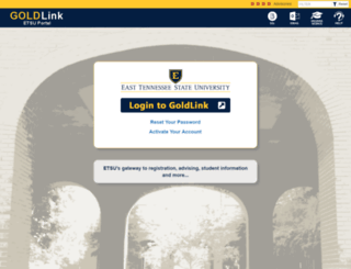 goldlink.etsu.edu screenshot
