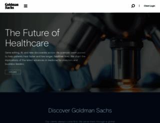 goldmansachs.com screenshot