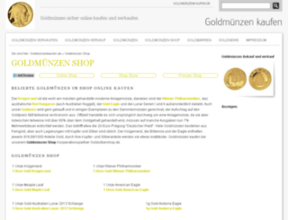 goldmuenzenshop.net screenshot
