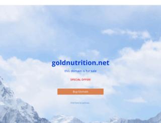 goldnutrition.net screenshot